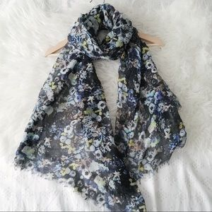 Floral Really Long Scarf